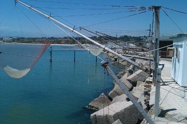 caliscendi - molo sud, porto di Giulianova