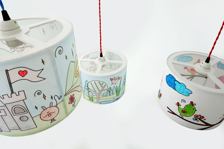 Our super cute range of Colour Me Lampshades from Mullan Kids!