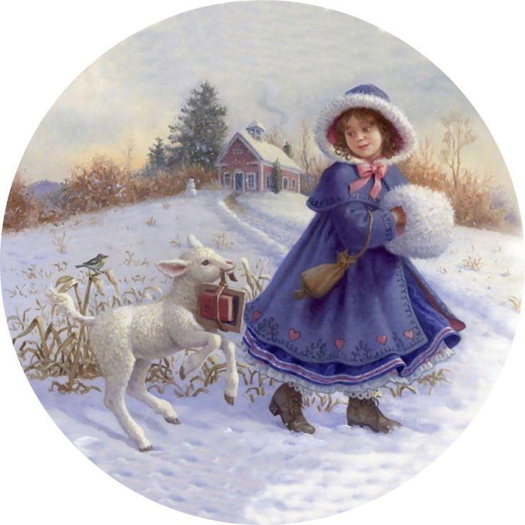 Зима открытка ретро