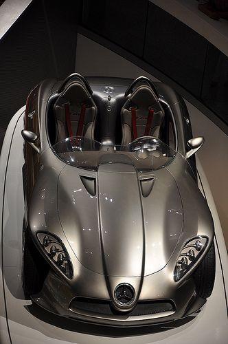 ♂ Silver car Mercedes McLaren car