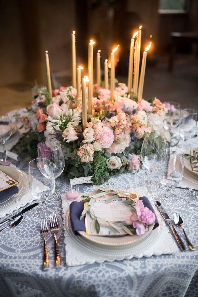 La Tavola Fine Linen Rental: Morse Code Slate | Photography: Trevor Dayley, Planning & Design: Some Like It Classic, Floral Design: Juliet Le Fleur, Menus: Event Essentials