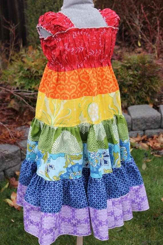 Boutique Rainbow Twirl Dress