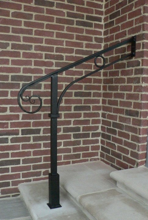 Best 25 exterior handrail ideas on pinterest iron - Exterior wrought iron handrails for steps ...