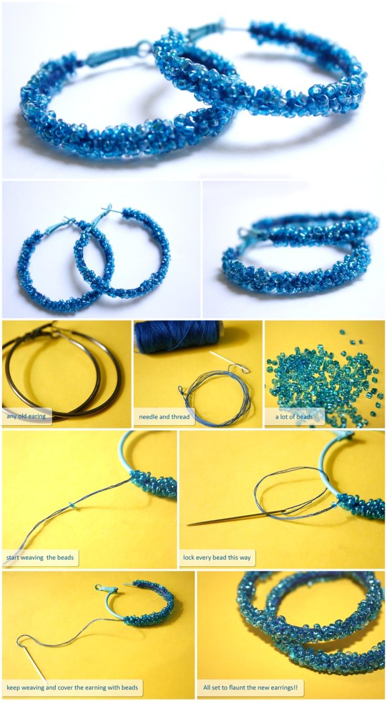 Tutorial on how to make beaded earrings
