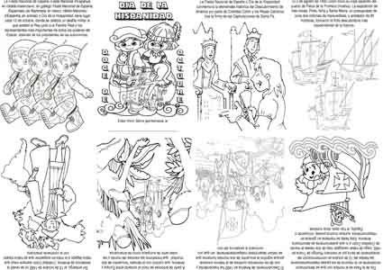 """Mini libro, para celebrar el """"Día de la Hispanidad / Raza"""" (12 de octubre). Al imprimirlo asegúrate que está en """"ajustar al área de impresión"""" para que los dobleces y cortes sean los apropiados. Pa..."""