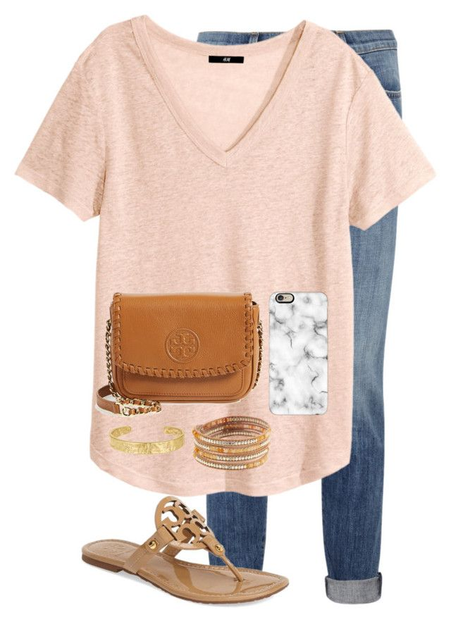 """""""bro's bday"""" by apemb ❤ liked on Polyvore featuring beauty, Current/Elliott, H&M, Tory Burch, Casetify, Sam Edelman and NAKAMOL"""