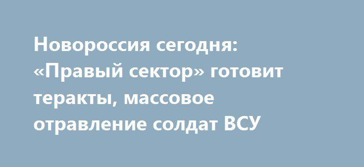 Новороссия сегодня: «Правый сектор» готовит теракты, массовое отравление солдат ВСУ http://rusdozor.ru/2017/06/18/novorossiya-segodnya-pravyj-sektor-gotovit-terakty-massovoe-otravlenie-soldat-vsu/  Донбасс, 18 июня. Националисты готовят теракты, массовое отравление бойцовВСУ, междоусобица в Счастье, опровержение лжи украинских СМИ. Общая обстановка За минувшие сутки по территориям свободных республик Донбасса с позиций киевских силовиков было выпущено семьсот пятьдесят снарядов и мин…