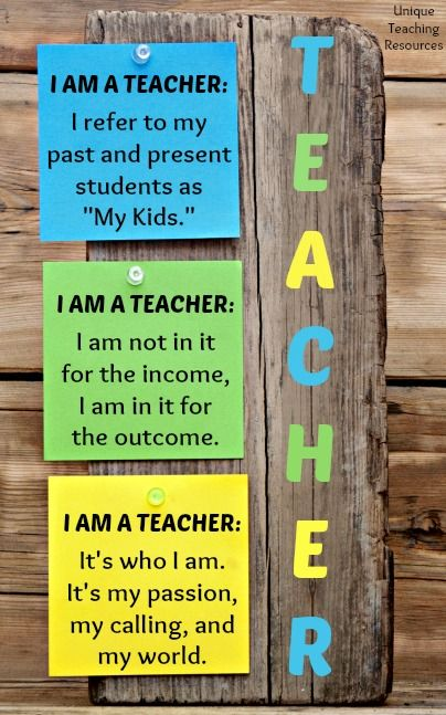 I Am A Teacher! 100+ quotes about teachers and teacher graphics on this page of Unique Teaching Resources.