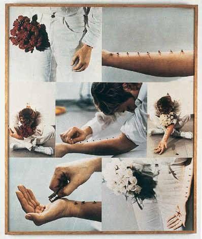 Gina Pane, Azione semtimentale. body art, autoportrait