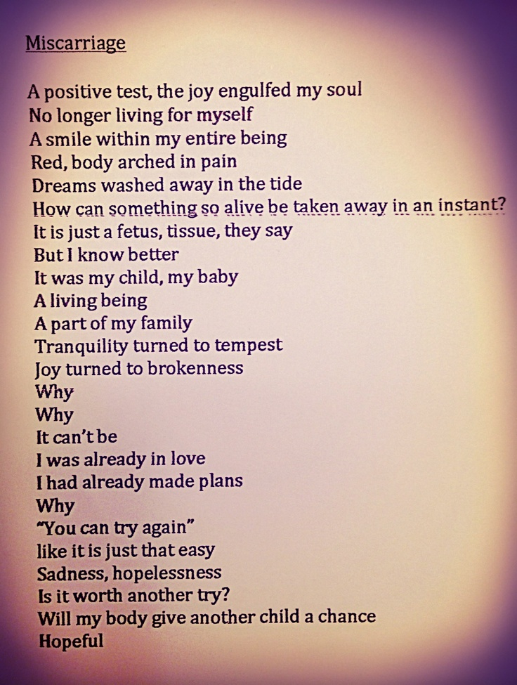 miscarriage poem...a poem I wrote to help cope with the loss