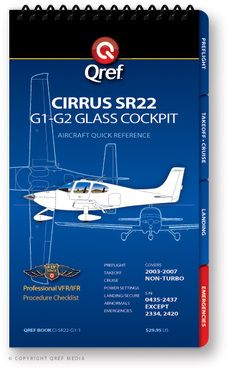 Quick Reference Media Cirrus SR22 G1-G2 Qref Book
