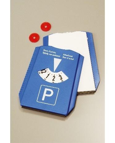 Parkeerschijf ijskrabber + Winkelwagenmuntjes bedrukken