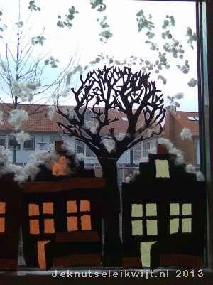 huisjes met sneeuw knutselen.
