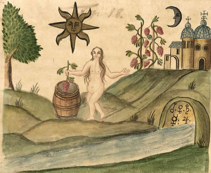 images from the 18th century manuscript on alchemy Clavis Artis, attributed to Zoroaster. Biblioteca dell'Accademia Nazionale dei Lincei, Roma.