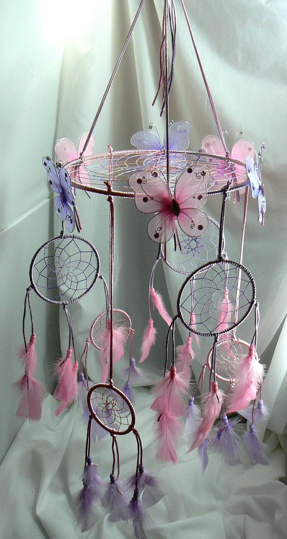 Dream Catcher Mobile. $110.00, via Etsy. I want to make something like this for my daughter