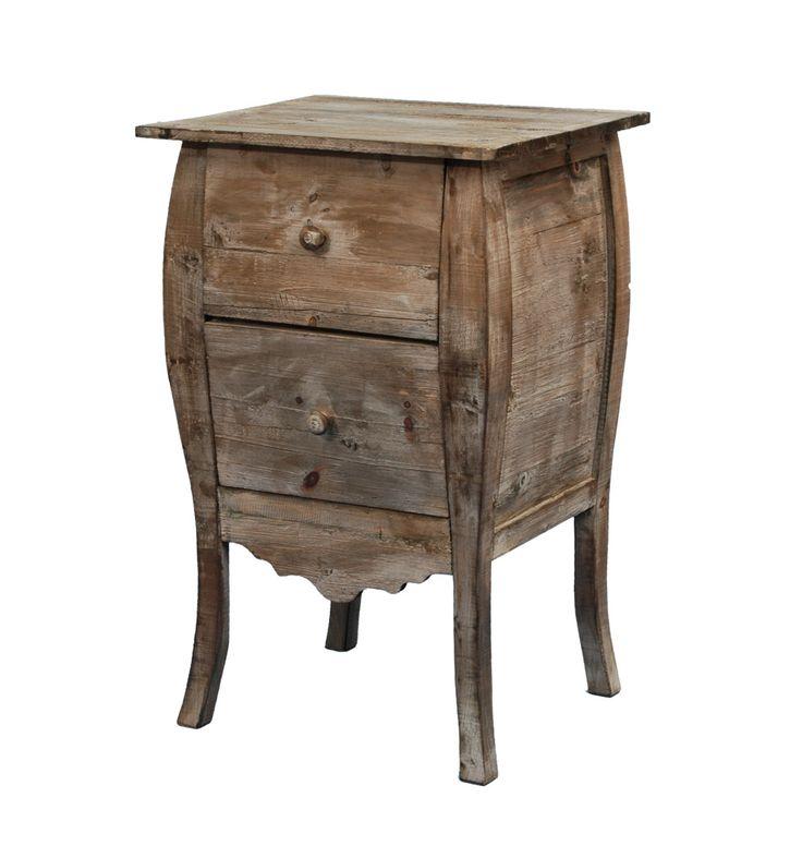 Clayre & Eef Rustikaler Nachttisch aus Naturholz