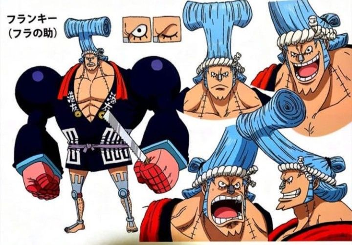 franky one piece comic character design anime character design