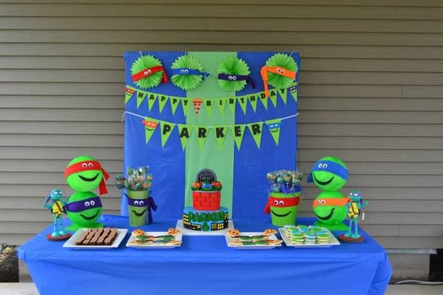 Teenage Mutant Ninja Turtles Birthday Party Ideas | Photo 12 of 37 | Catch My Party