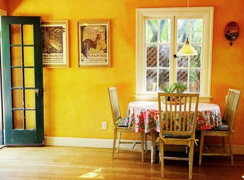 Yellow is a sunny interior design color