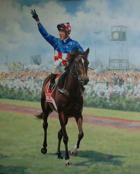 Australia's Champion Racehorse 2005-2006, MAKYBE DIVA by Lyn Beaumont