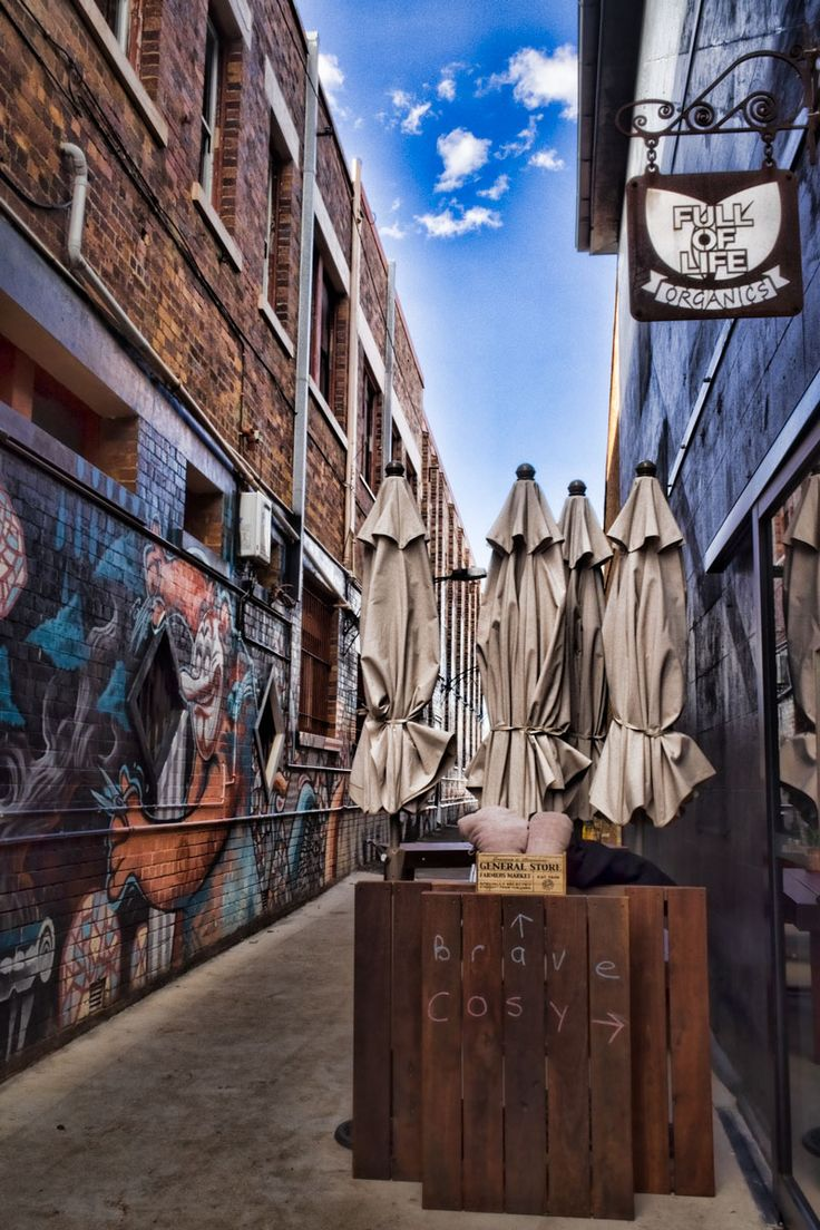 The cafes are on theme at Toowoomba's annual street art festival | 57 supersized murals painted by local and international artists | Queensland, Australia