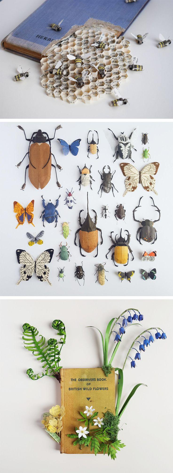 New Paper & Textile Wildlife Sculptures by Kate Kato