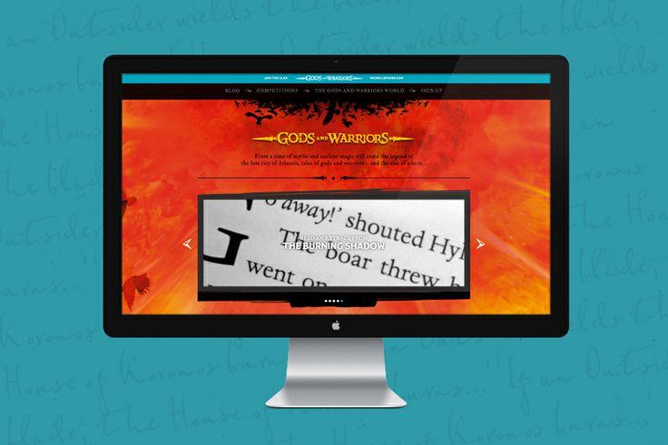 Fiasco Design   Gods and Warriors Website Design for Penguin Books