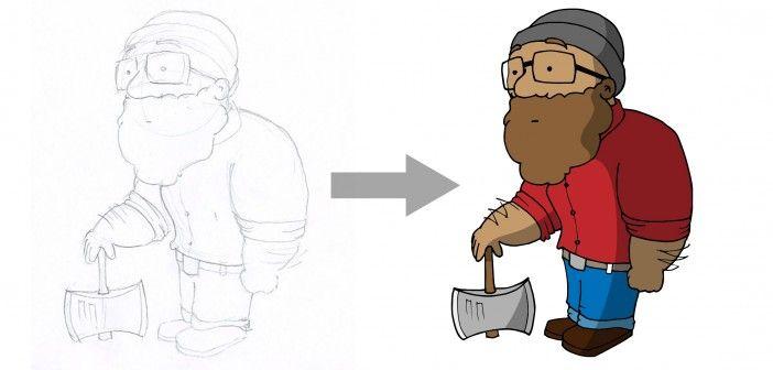Skizzen mittels Illustrator vektorisieren