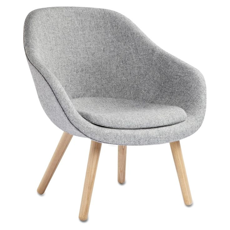 About a Lounge 82 lænestole med pude, grå/egetræ – Hay – Køb møbler online på…