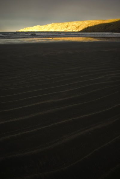 Black beach,Orkains Bay, Banks Peninsula,Canterbury, New Zealand