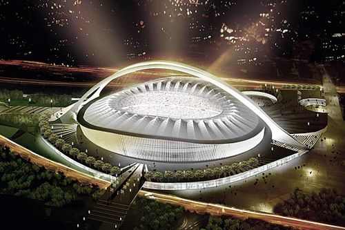 Modern architecture, design and construction. Durban's Moses Mabhida Stadium built for the World Cup 2010 #MosesMabhida #2010SocerWorldCup