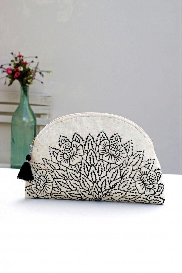 Ağaç Baskılı Keten Clutch #beachwear #handmade #printed #bag #clutch #flax #ikikız #lidyana