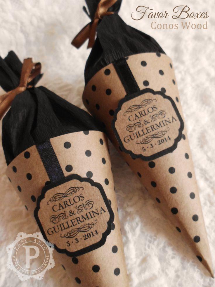 Conos Wood para arroz, confites, bombones, lo que quieras! http://mfperluzzo.wix.com/papelario