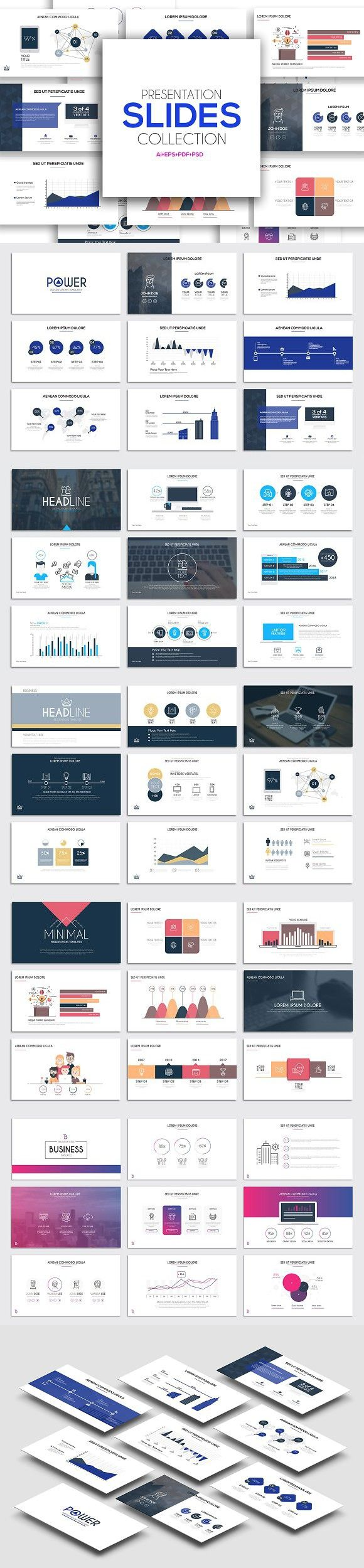 Presentation slide templates. Infographic Templates. $19.00