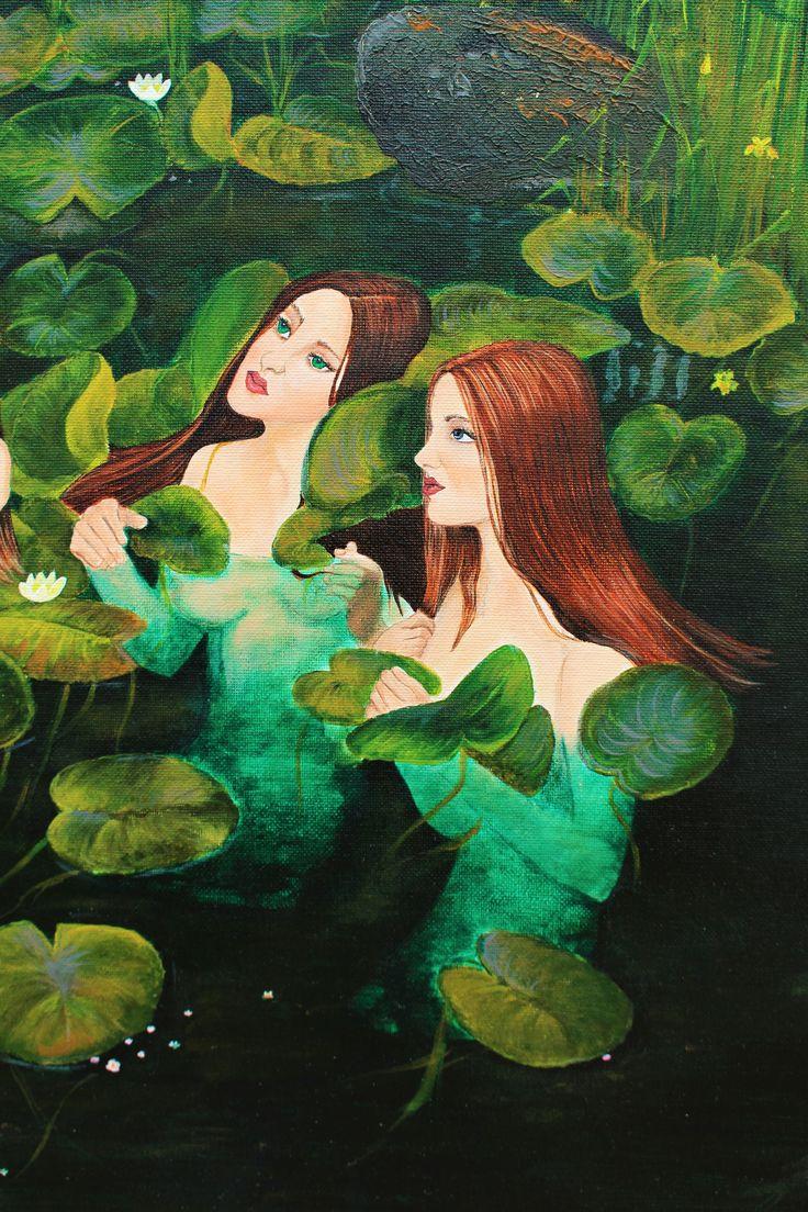 Adamina and Cerelia Original artwork print
