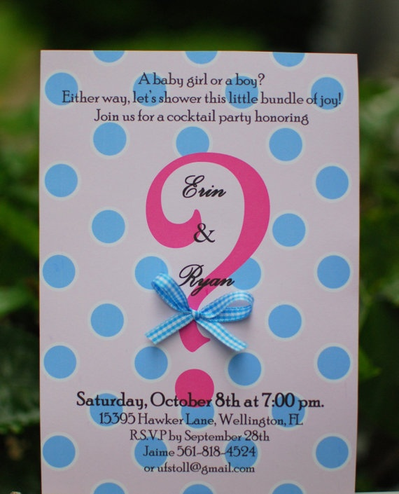 This would be cute for a gender reveal party invitation :)