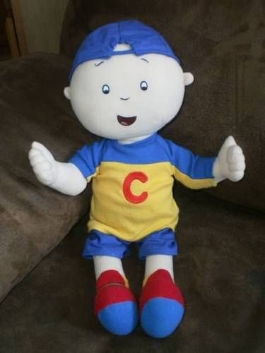 "RARE! HTF 16"" TALKING CAILLOU doll PLUSH stuffed PBS TV series 2002 WORKS!"