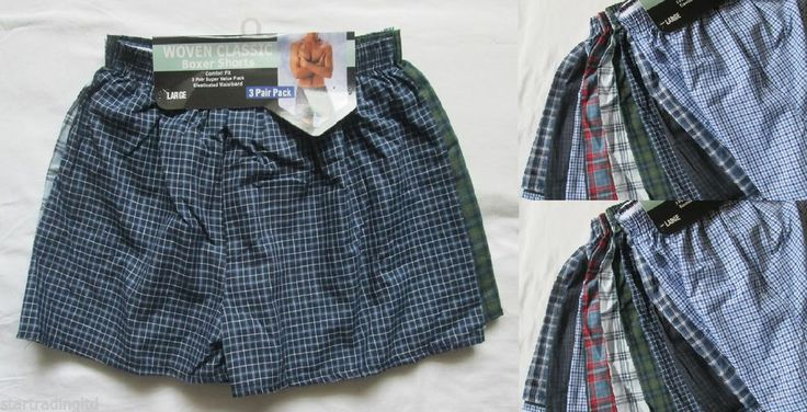 6 Mens Woven Boxer Shorts Loose Fit Cotton Boxers Underwear All Sizes