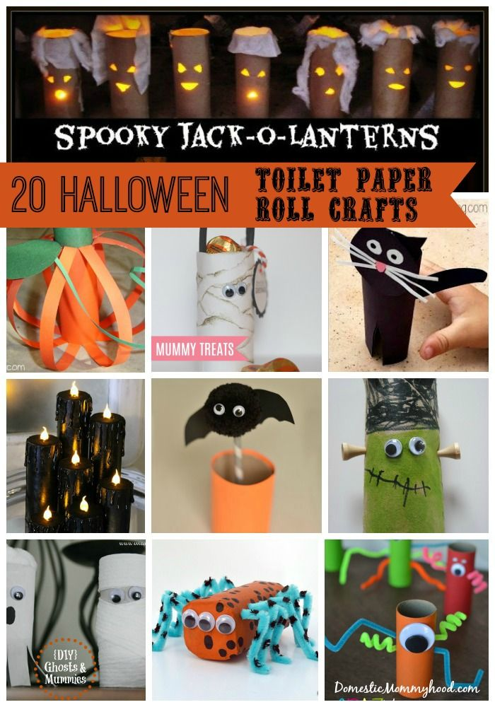 As usual we have a stockpile of toilet paper rolls and with Halloween right around the corner I figured it was high time to work on some Halloween toilet paper roll crafts for kids to decorate our house with! These...