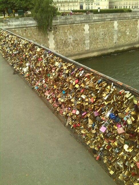 Day three: Locked bridge :) lover's bridge #ParisByDay