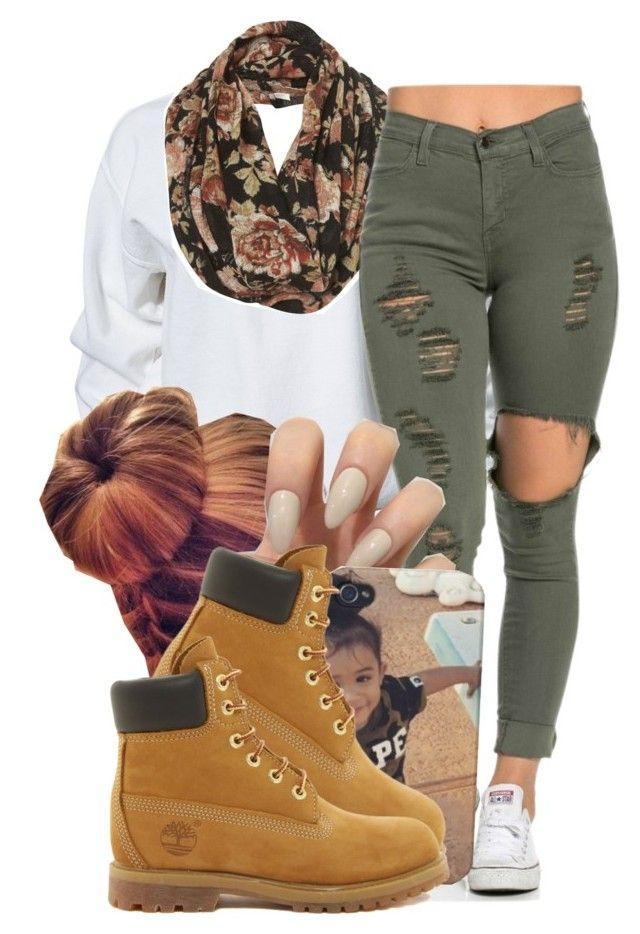 """..."" by miss-trillest ❤ liked on Polyvore featuring River Island, Timberland, women's clothing, women's fashion, women, female, woman, misses and juniors"