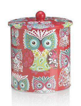 Bohemian Owl Biscuit Tin