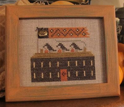 A Halloween Year II  Crow House by HomespunElegance on Etsy, $7.00 (second in the second year series)