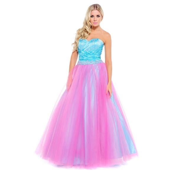Ruby prom - Chelsea prom dress in pink and aqua