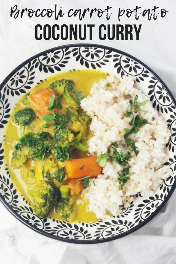 Broccoli Carrot Potato Coconut Curry Recipe Curry Recipes