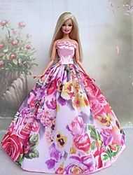 Barbie Doll Princess Dress Spring in the Garden
