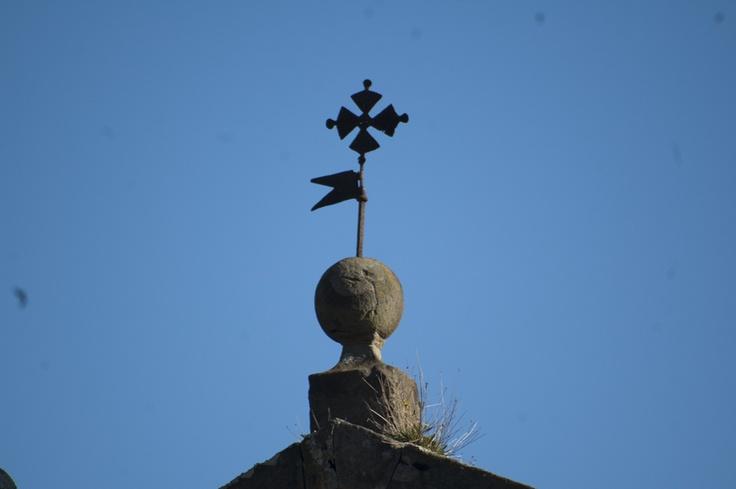Villaviciosa ; Asturias Campanario de la iglesia de San Bartolome de puelles ; Romanico arte de Asturias
