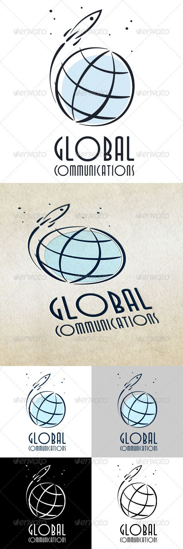 Global Communications by JOKER-DRACO Global CommunicationsLogo Template Include formats:AI EPS PNG PSD JPGRecommended free font: TallDeco http://www.fontspace.com/tho