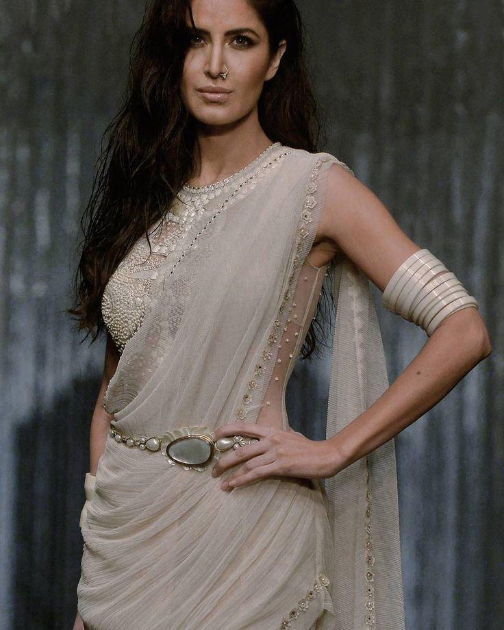 Katrina Kaif for @taruntahiliani she's killin' it in this #saree