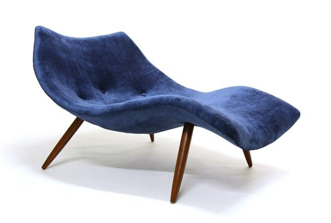 Adrian Pearsall Rare Chaise 1828-C - Mr. Bigglesworthy Designer Vintage Furniture Gallery